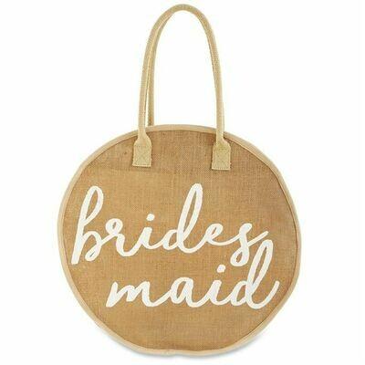 Bridesmaid Jute Round Totes
