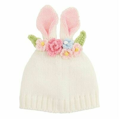 Bunny Flower Crown Hat White