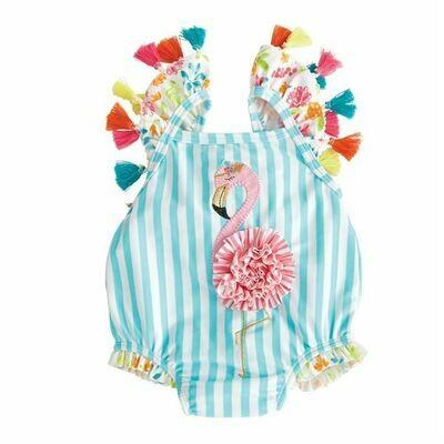 Flamingo Tassel Swimsuit 24m/2T