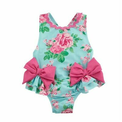 Floral Bow Swimsuit 3T