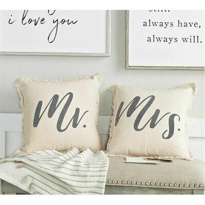 Frayed Mrs Pillow