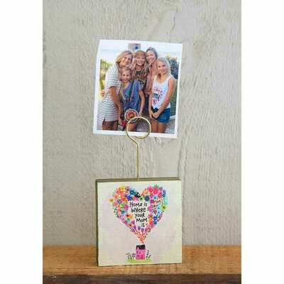 Block Photo Holder-home Is Where Mom Is