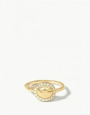 Aura Ring White Opal 8