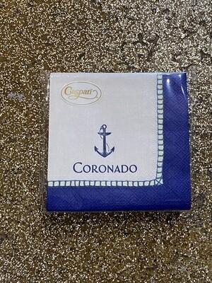 Coronado Anchor Cocktail Napkins