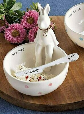 Hip Sitting Bunny Dip Cup Set