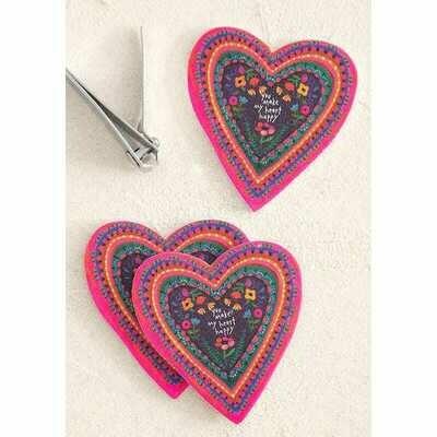 Emery Board S/3 Heart