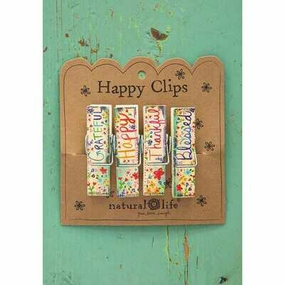 Chip Clips - Grateful Happy Thankful Blessed