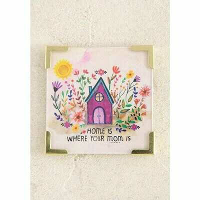 Corner Magnet - Home Is Where Mom Is