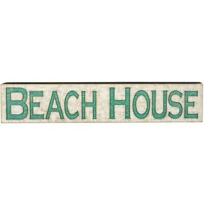 Jumbo Carved Sign - Beach House