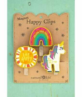 Magnet Happy Clips Rainbow Follow Your Dreams