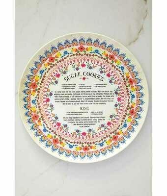 Melamine Plate Sugar Cookies