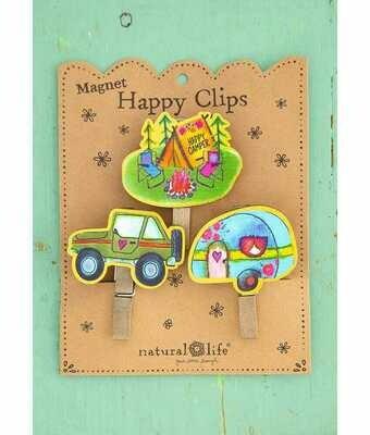 Magnet Happy Clips Happy Camper