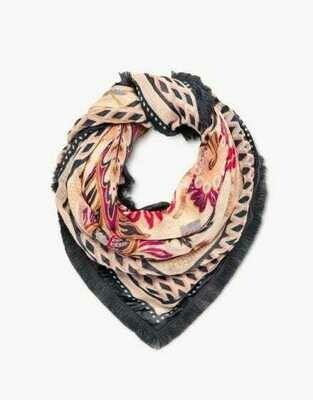Barbee Floral Square Scarf