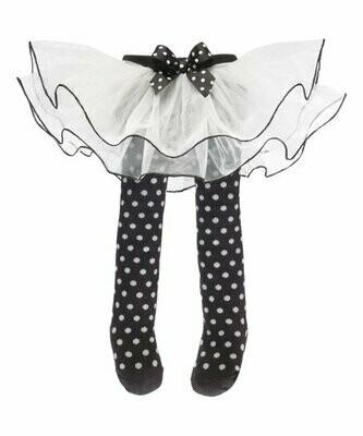 Black And White Polka Dot Tutu With Tights