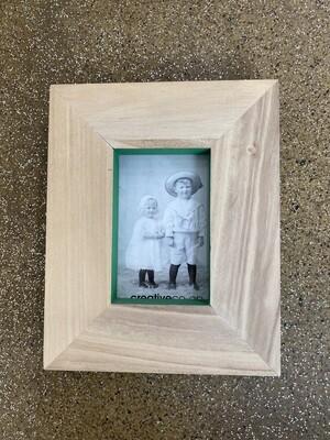 4x6 Wood Photo Frame - Green