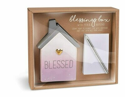 Blessings Box W/ Pen & Notepad