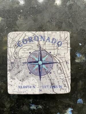 Blue Compass Magnet