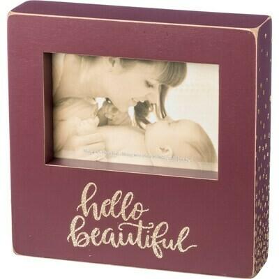 Box Frame - Hello Beautiful