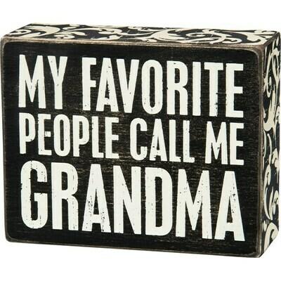 Box Sign - Call Me Grandma