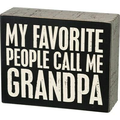 Box Sign - Call Me Grandpa