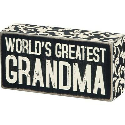 Box Sign - Greatest Grandma