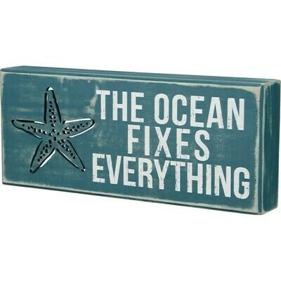 Box Sign - The Ocean Fixes