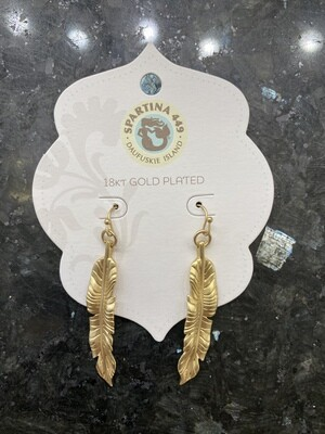 Cabana Leaf Earrings Gold