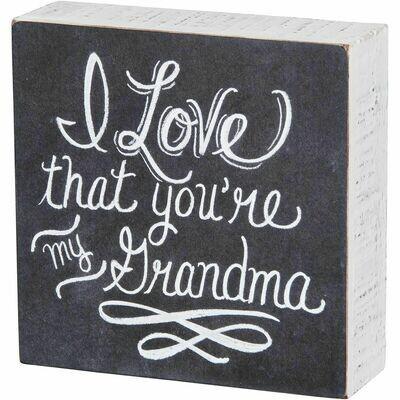 Chalk Sign - My Grandma
