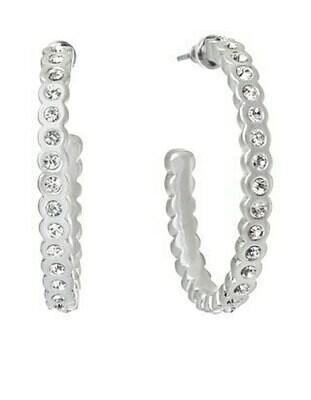 Chambers Hoop Earrings Crystal SIL