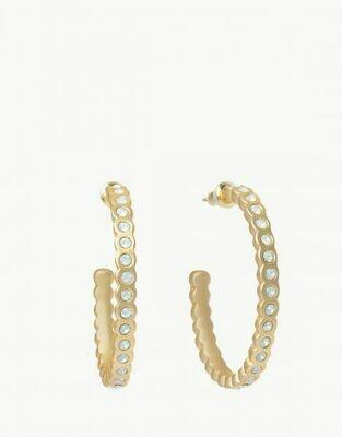 Chambers Hoop Earrings White Opal