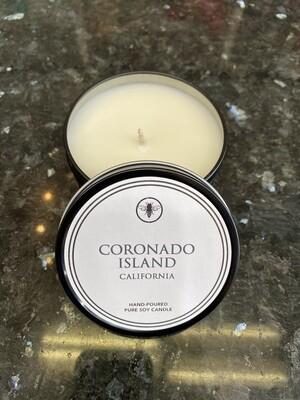 8oz Tin Candle- Coronado Island