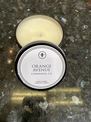 8oz Tin Candle-Orange Ave