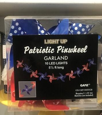 Light Up Patriotic Pinwheel Garland