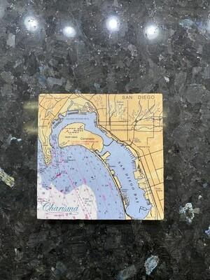 Coronado Map Coaster Set, Individual