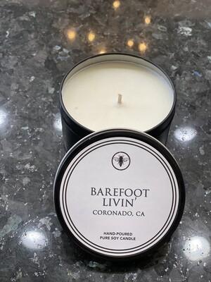 8oz Tin Candle - Barefoot Livin'