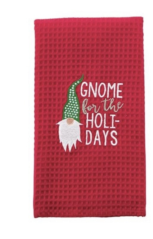 Gnome Waffle Weave Towel