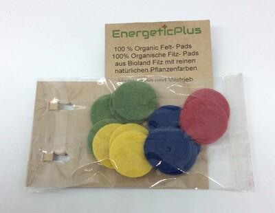 Ersatz Filzpads aus 100 % Bioland Naturfilz,12,17, 22 mm, Farben wählbar