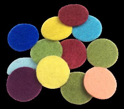 12 Nachfüllpads 12 mm, ohne Aromatisierung