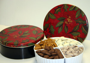 Reflective Holly Gift Tins 55oz