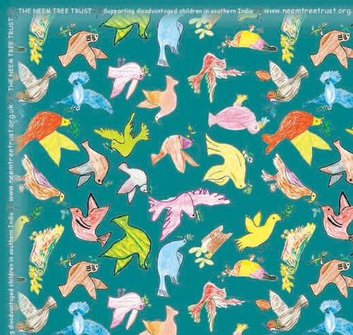 5 sheets of Birds of Peace Wrapping Paper