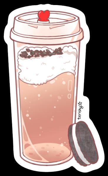 Oreo Milk Tea Sticker