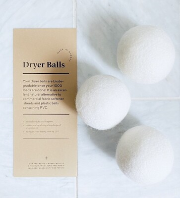 White Organic Dryer Balls