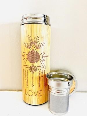 450mL LOVE Bamboo Water Bottle