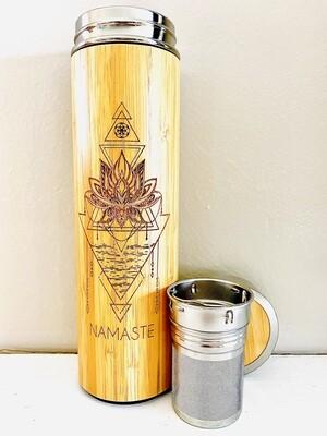 500mL NAMASTE Bamboo Water Bottle