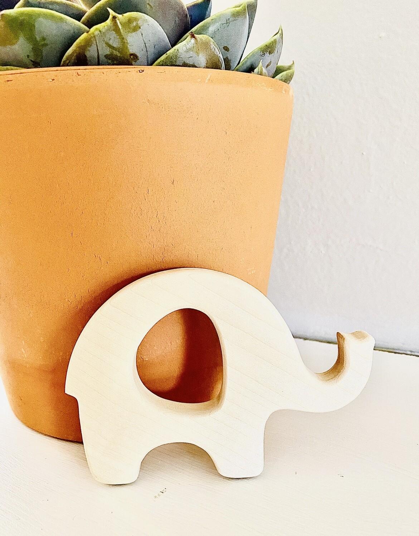 Elephant Wooden Teether