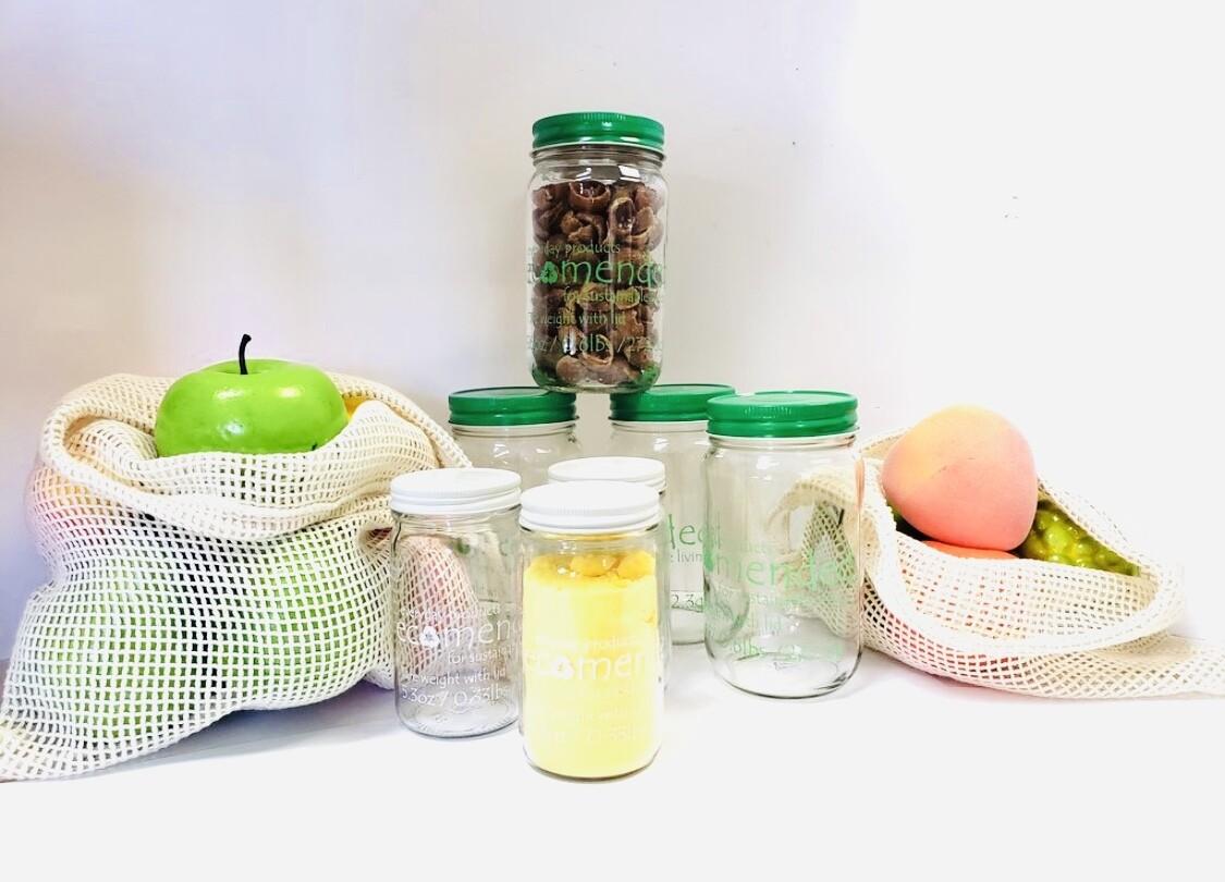 Glass Tare Weight Jar