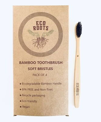 Natural Bamboo Toothbrush 4pk