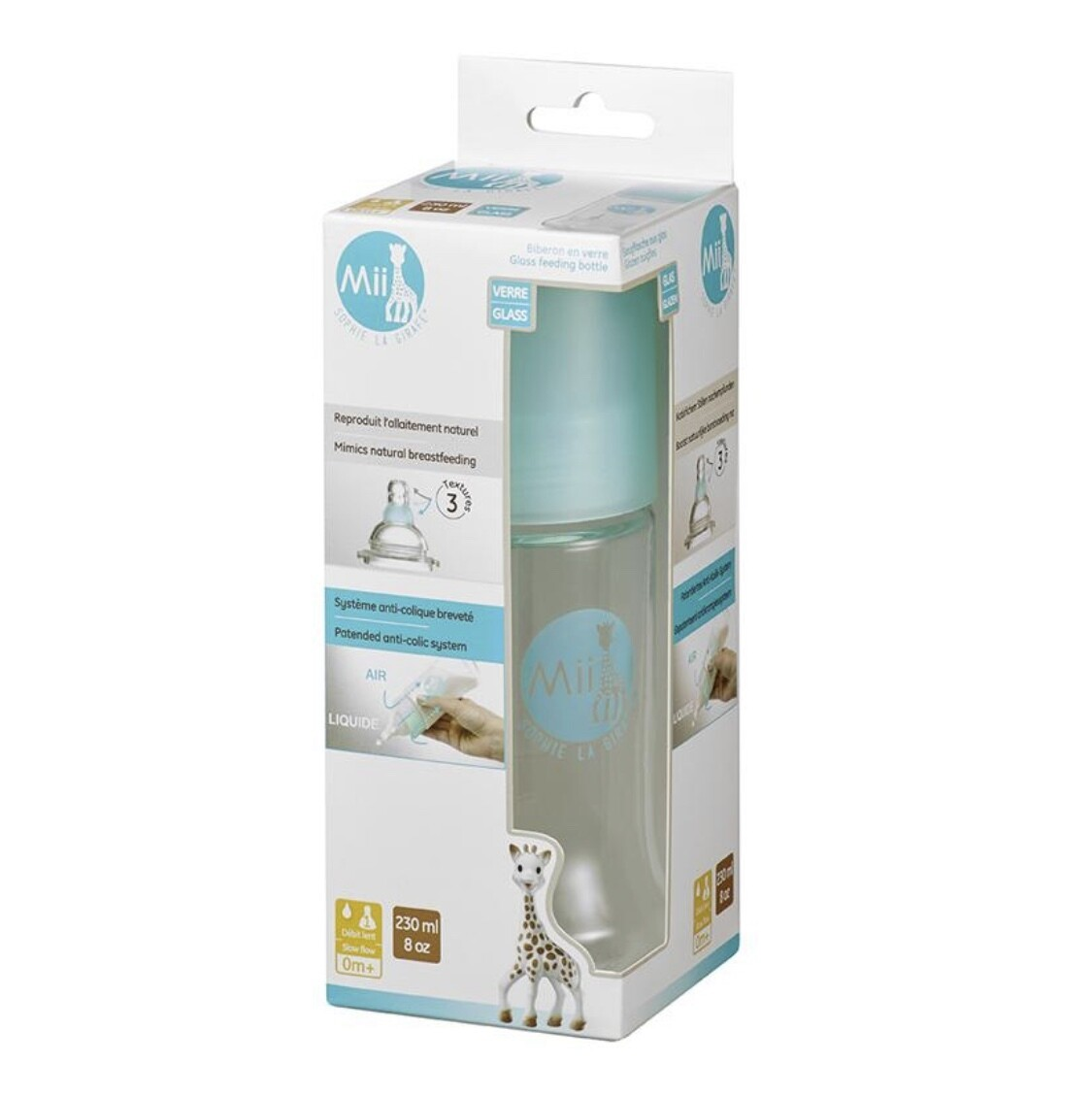 Sophie the Giraffe Glass Bottle 8oz