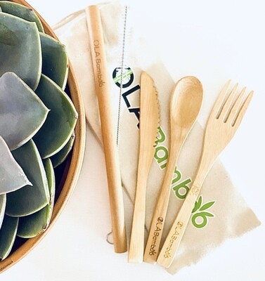 Zero Waste Kit (Bamboo Utensils)