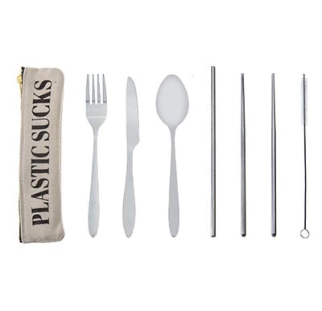 Plastic Sucks Cutlery Set